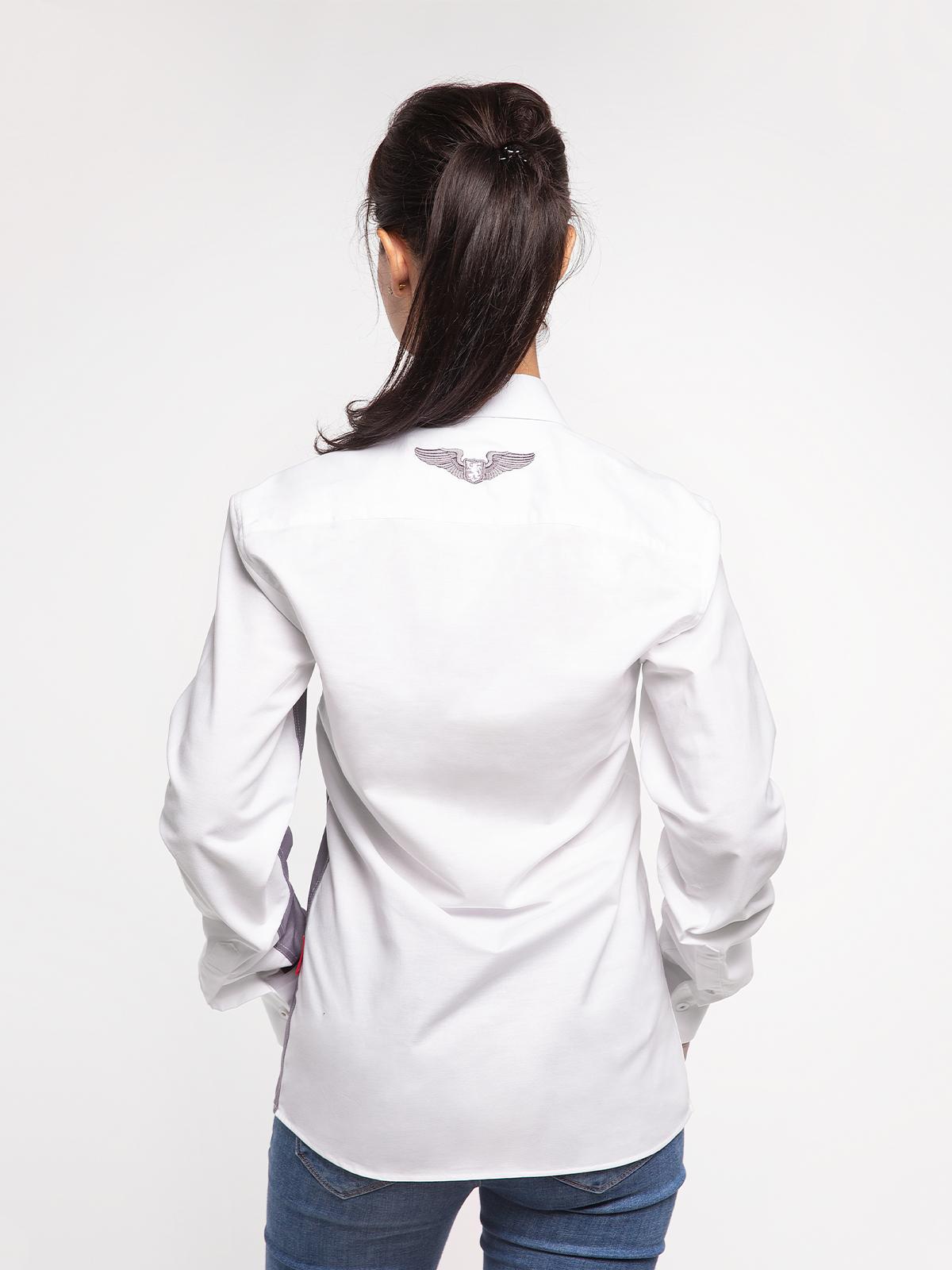 Жіноча Сорочка Крила. Колір білий.  Технологія нанесення зображень: шовкодрук, вишивка.