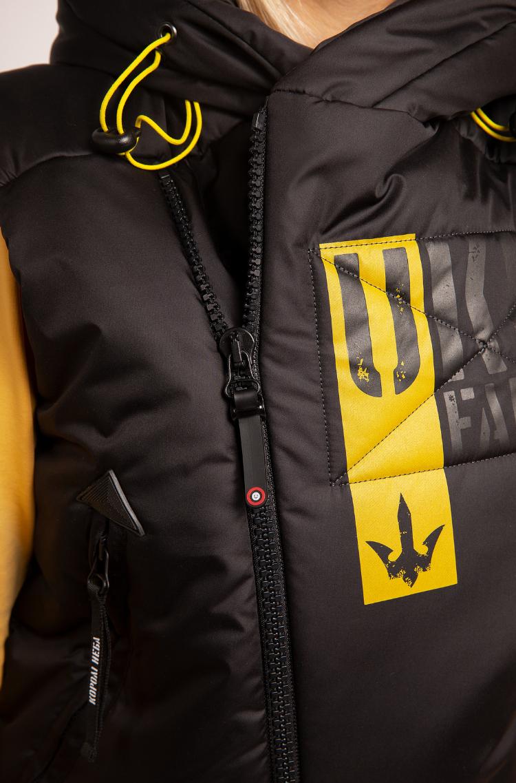 Women's Sleeveless Jacket Ukr Falcons. Color black. 6.