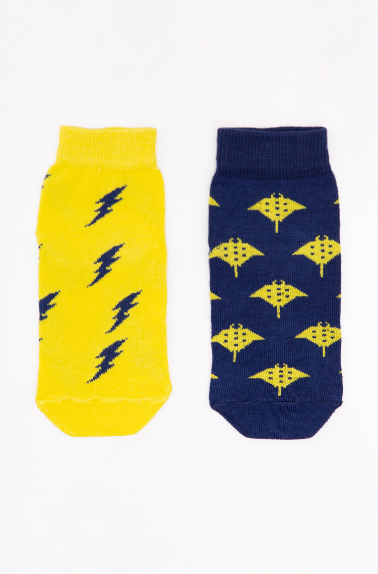 Kids Socks Stingray. Color yellow. 95% cotton, 5% elastane  This item cannot be exchanged or returned  The color shades on your screen may differ from the original color.