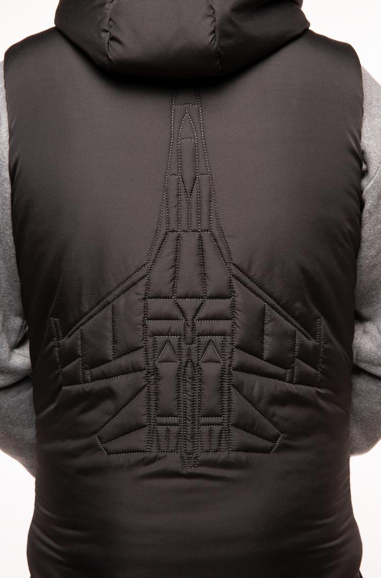 Men's Sleeveless Jacket Ukr Falcons. Color black. 4.