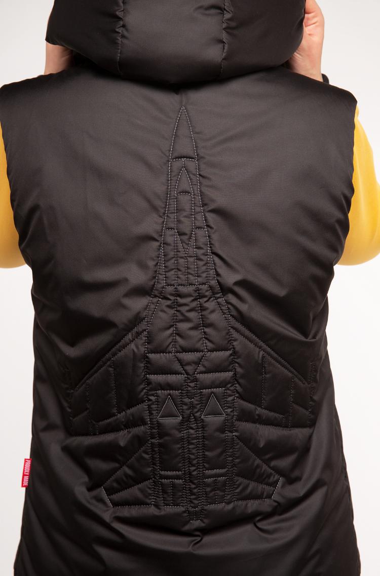 Women's Sleeveless Jacket Ukr Falcons. Color black. 7.