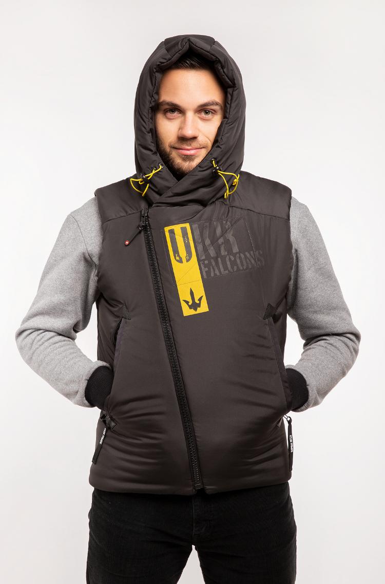 Men's Sleeveless Jacket Ukr Falcons. Color black. .