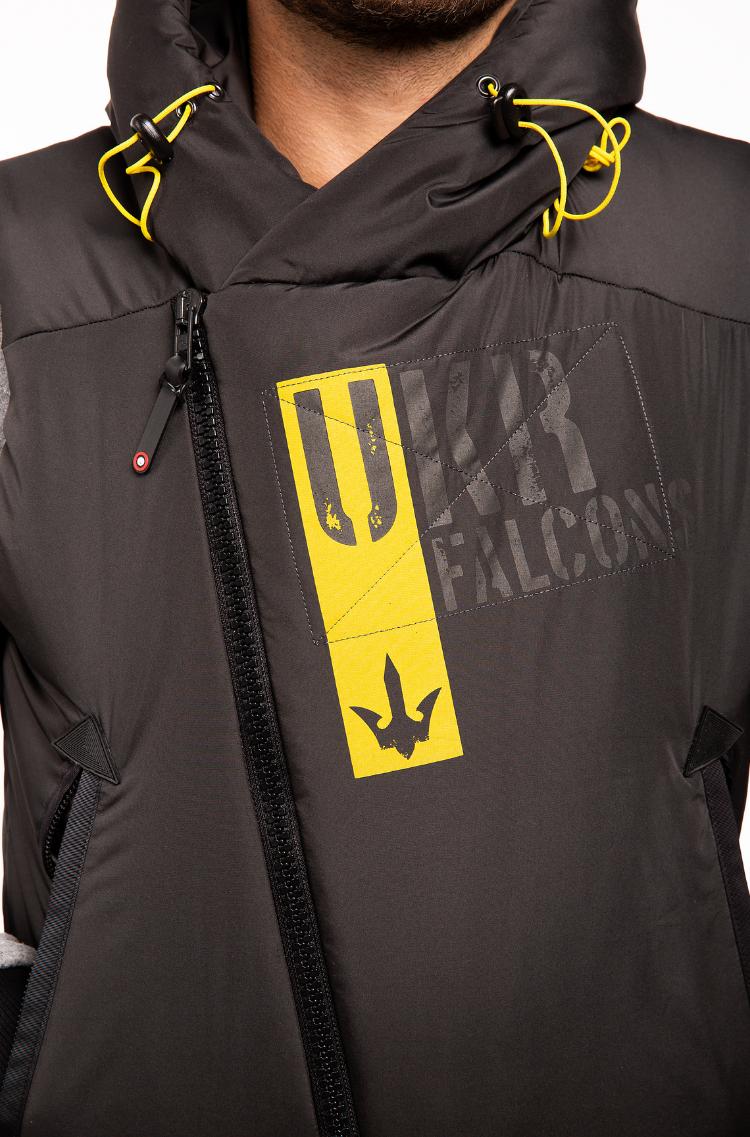 Men's Sleeveless Jacket Ukr Falcons. Color black. 5.
