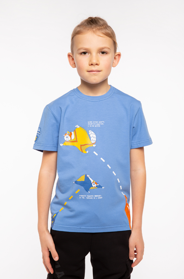 Дитяча Футболка Білки-Летяги. Колір блакитний. Футболка унісекс.