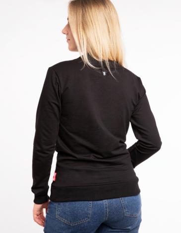 Women's Long Sleeve Syla. Color black. Material: 95% cotton, 5% spandex.