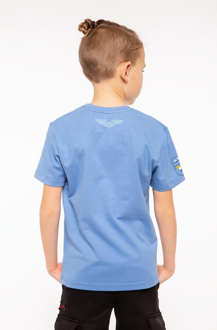 Дитяча Футболка Білки-Летяги. Колір блакитний.  Матеріал: 95% бавовна, 5% спандекс.
