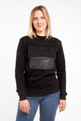 Women's Long Sleeve Syla. Material: 95% cotton, 5% spandex.