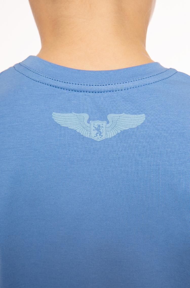Дитяча Футболка Білки-Летяги. Колір блакитний.  Технологія нанесення зображень: шовкодрук.