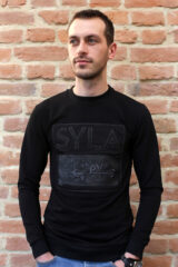Men's Long Sleeves Syla. Material: 95% cotton, 5% spandex.