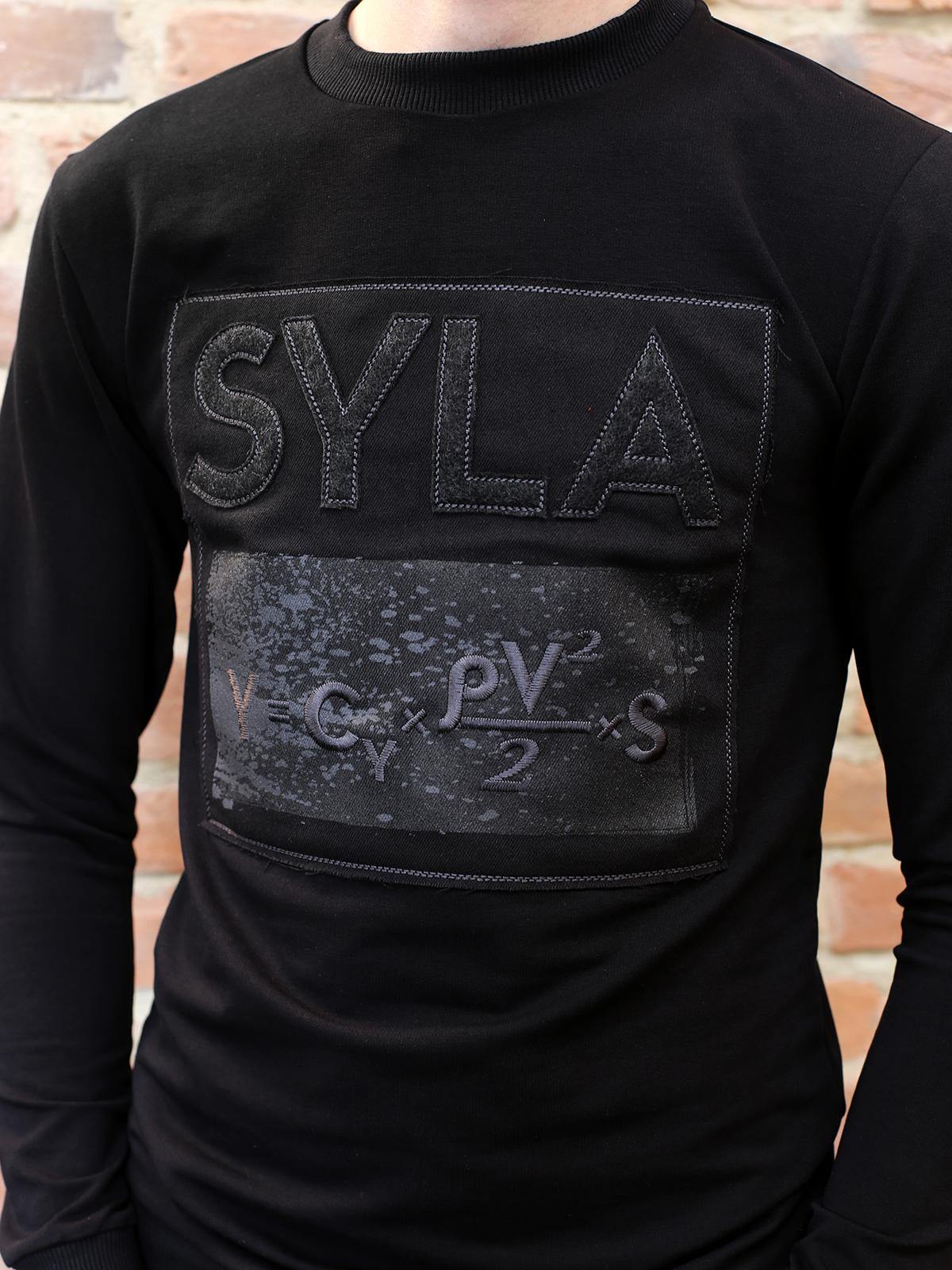Чоловічий Лонґ-Слів Syla. Колір чорний.  Розмір на моделі: S.
