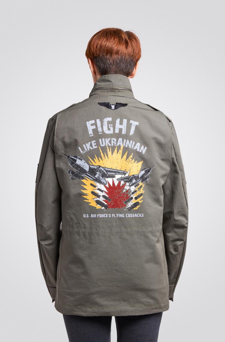Жіноча Куртка М-65 Буревій. Колір хакі.  Не варто переживати за універсальний розмір.