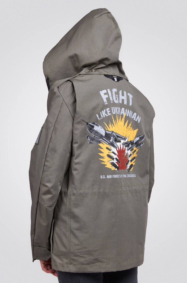 Жіноча Куртка М-65 Буревій. Колір хакі.  Відтінки кольорів на вашому екрані можуть відрізнятися від кольору оригіналу.