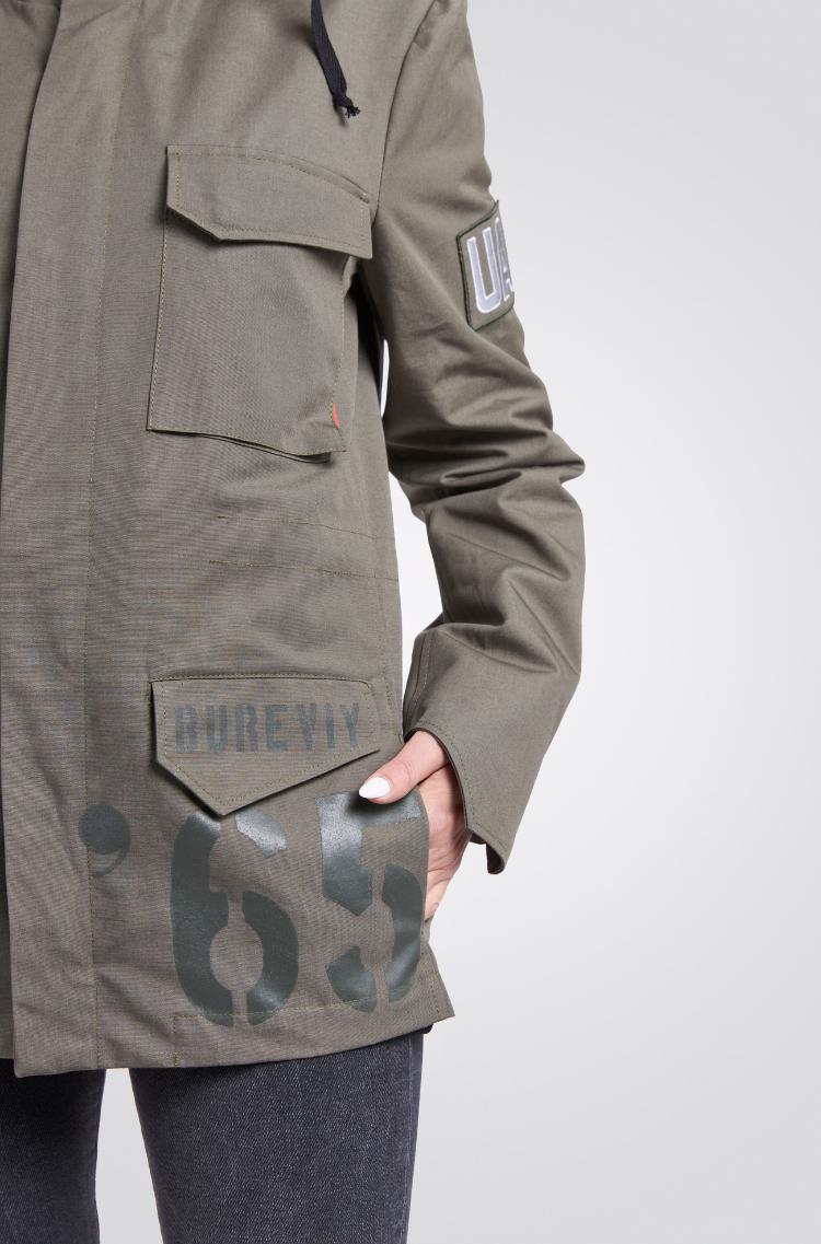 Жіноча Куртка М-65 Буревій. Колір хакі. 12.