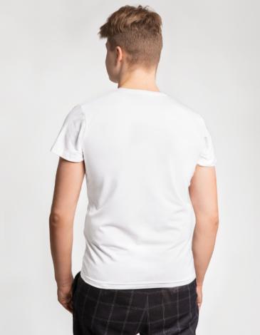 Men's T-Shirt Pelican. Color white. Unisex T-shirt (men's sizes).