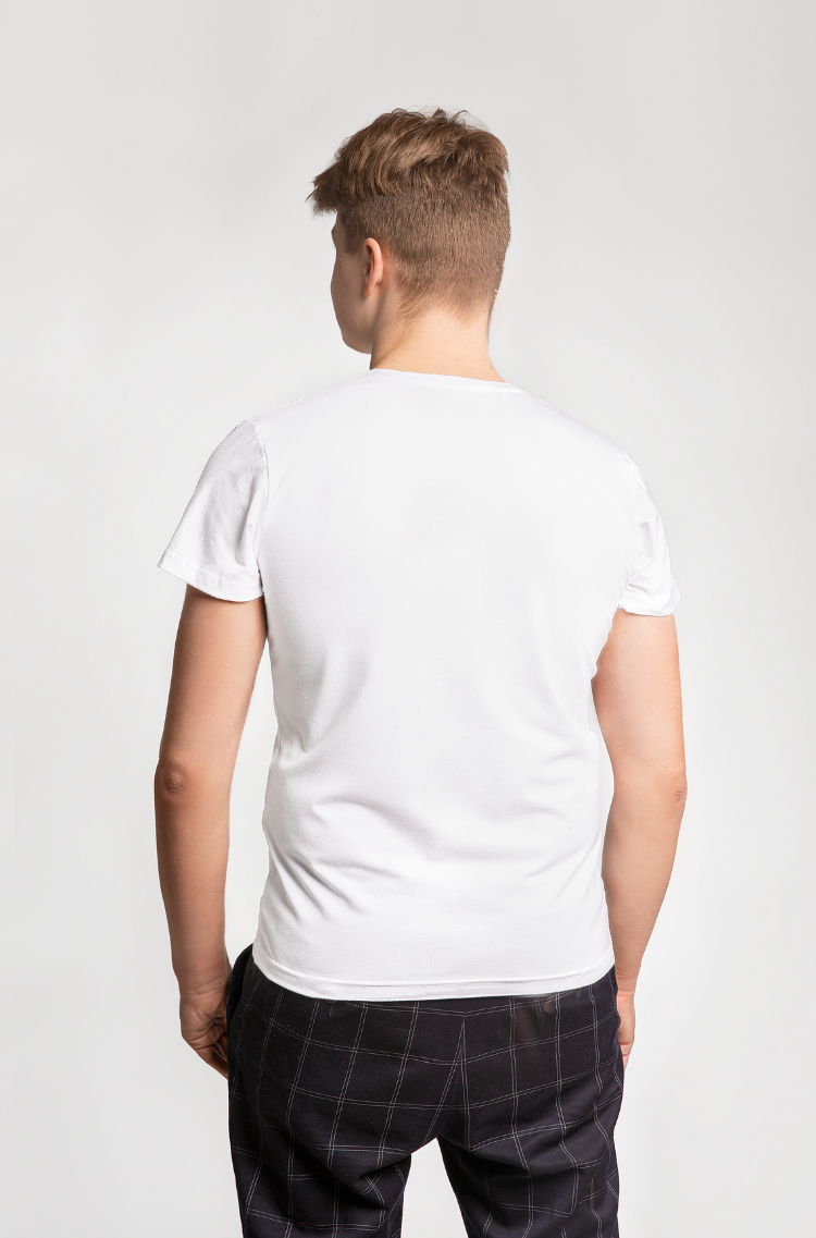 Men's T-Shirt Pelican. Color white.  Don't worry about the universal size.