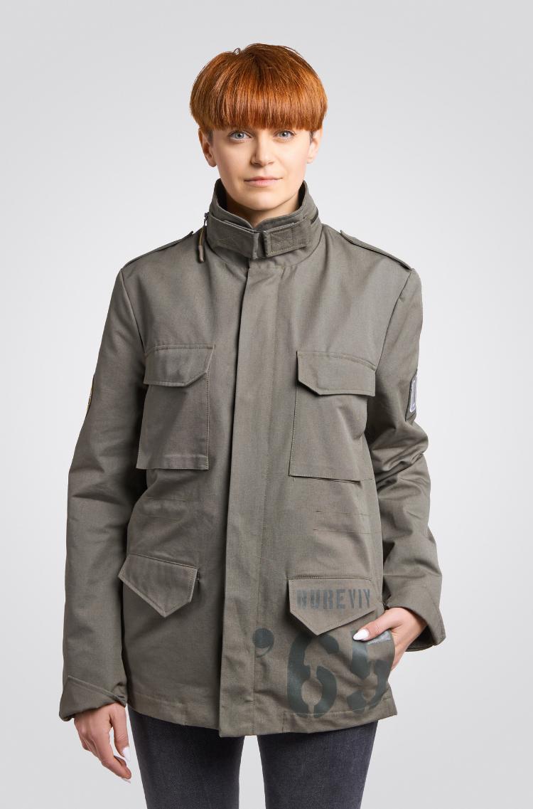 Жіноча Куртка М-65 Буревій. Колір хакі. Куртка унісекс (розміри чоловічі).