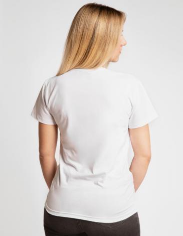 Жіноча Футболка Пелікан. Колір білий. Благодійна футболка.