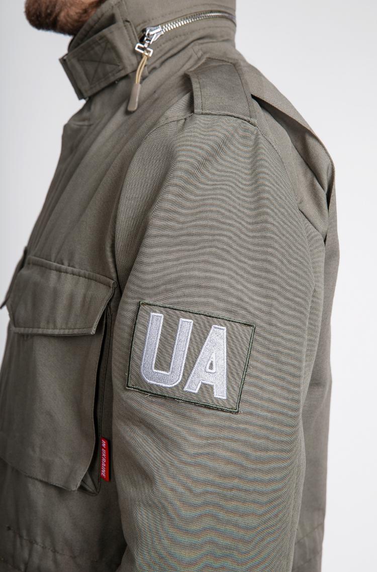 Чоловіча Куртка М-65 Буревій. Колір хакі.  Відтінки кольорів на вашому екрані можуть відрізнятися від кольору оригіналу.