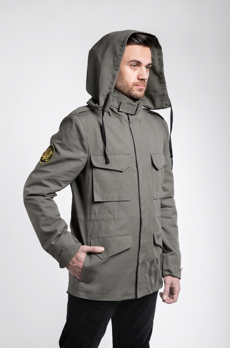 Men's Jacket М-65 Byreviy. Color khaki.  Substrate material: 60% cotton, 40% polyester.