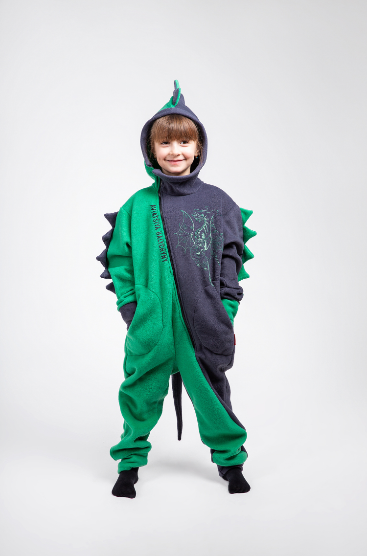 Rompers Dragon. Color green. 5.