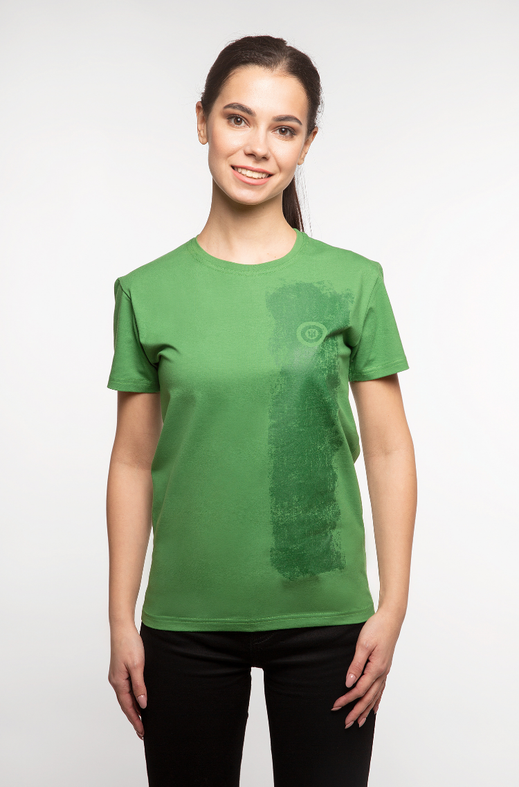 Basic Set Of Women's T-Shirts Colors Burst. Color green.  Don't worry about the universal size.
