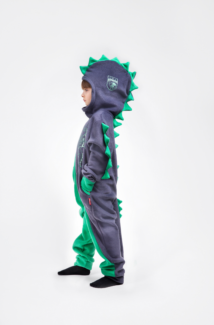Rompers Dragon. Color green. 6.