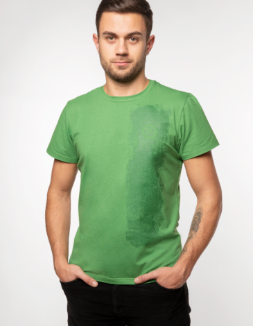 Men's T-Shirt Must-Have. Color green. Unisex T-shirt (men's sizes).