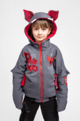 Kids Hoodie Baby Bat. Unisex hoodie, well suited for both boys and girls.