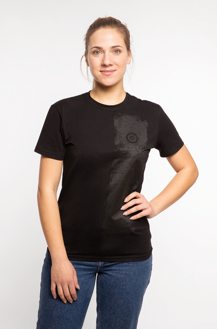 Basic Set Of Women's T-Shirts Colors Burst. Color black.  Don't worry about the universal size.