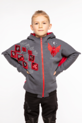 Kids Hoodie Bat. Unisex hoodie, well suited for both boys and girls.