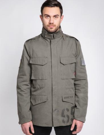 Чоловіча Куртка М-65 Буревій. Колір хакі. Основний матеріал: 100% бавовна Матеріал підкладки: 60 % бавовна , 40 % поліестер Технологія нанесення зображень: шовкодрук.