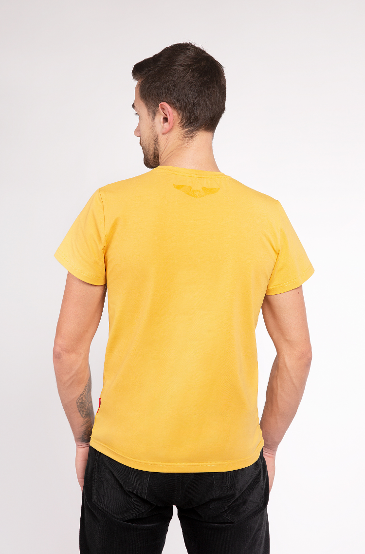 Basic Set Of Men'S T-Shirts Colors Burst. Color yellow.  The color shades on your screen may differ from the original color.
