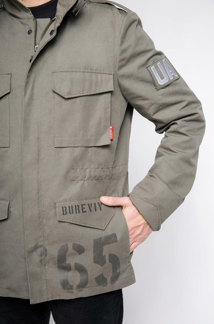 Чоловіча Куртка М-65 Буревій. Колір хакі. 7.