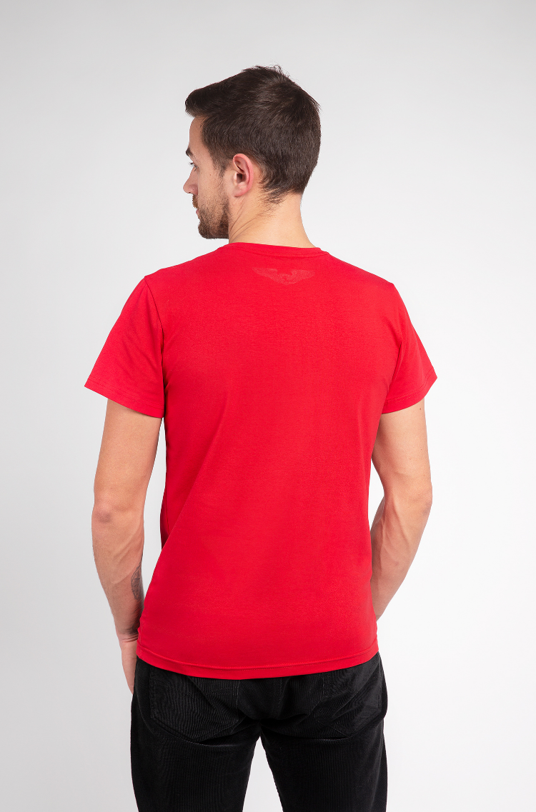 Basic Set Of Men'S T-Shirts Colors Burst. Color red.  The color shades on your screen may differ from the original color.