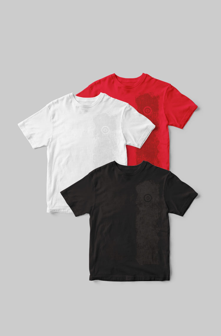 Basic Set Of Men'S T-Shirts Colors Burst. Color red. Basic T-shirts separately you can purchase here  Material: 95% cotton, 5% spandex.
