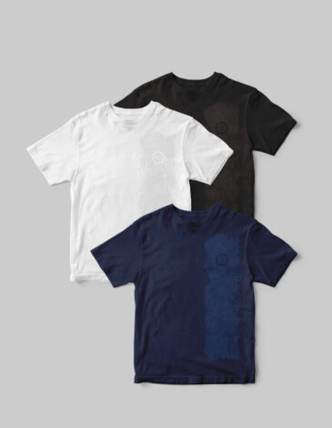Basic Set Of Men'S T-Shirts Colors Burst. Color black. .