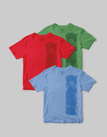 Basic Set Of Men'S T-Shirts Colors Burst. Color green.  The color shades on your screen may differ from the original color.