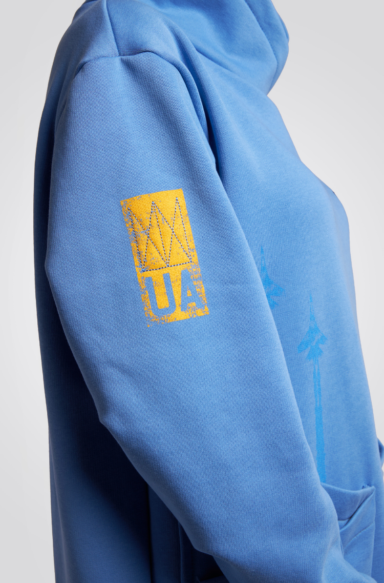 Тепла Сукня Стрімка. Колір блакитний.  Розмір на моделі: М.
