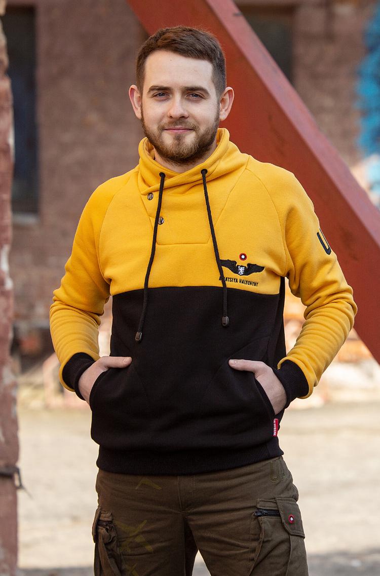 Men's Sweatshirt Serafym. Color yellow. 10.