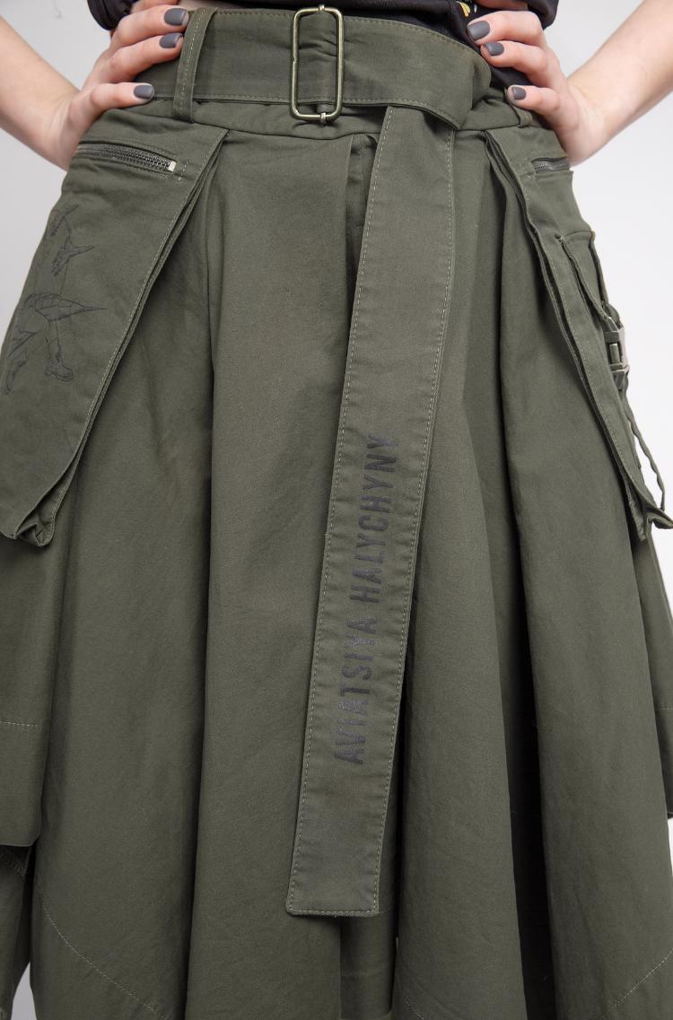 Women's Skirt Broom. Color khaki. 8.