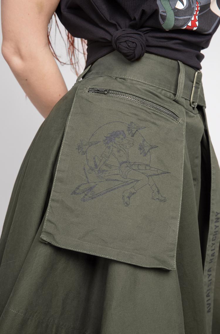 Women's Skirt Broom. Color khaki. 9.