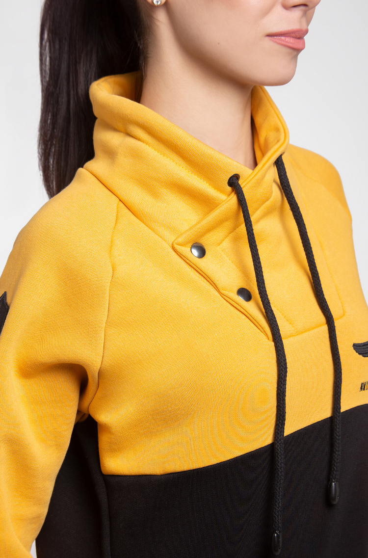 Women's Sweatshirt Serafym. Color yellow.  The color shades on your screen may differ from the original color.