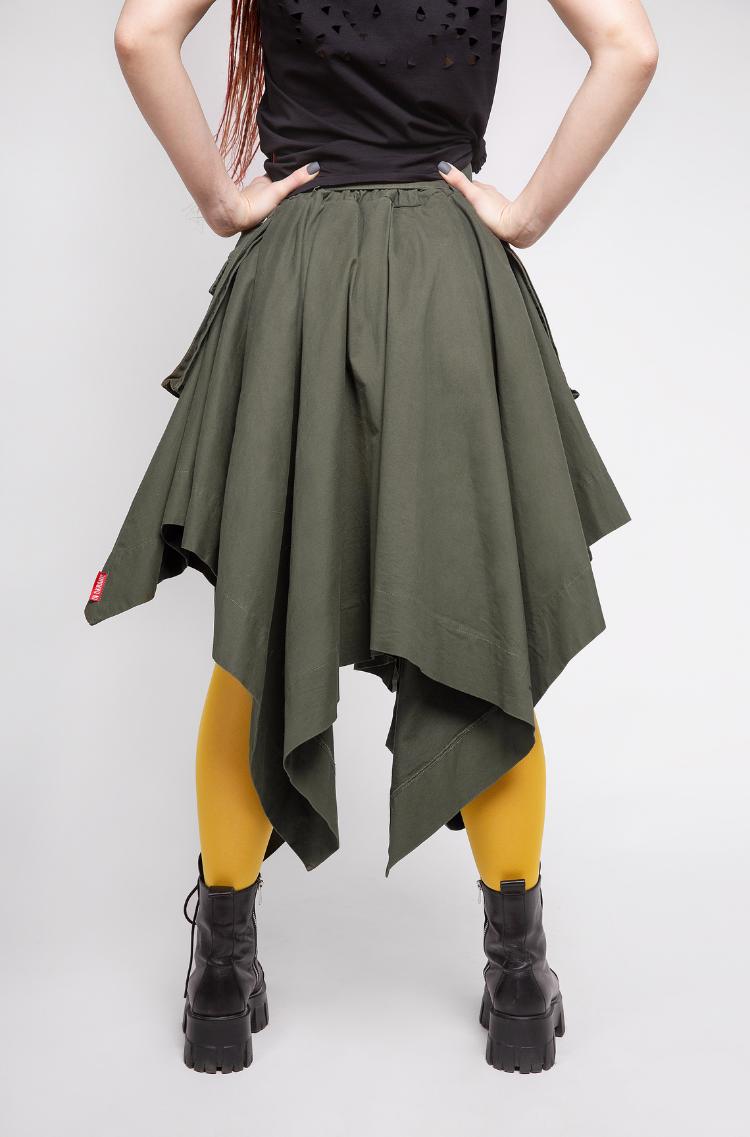Women's Skirt Broom. Color khaki. 6.