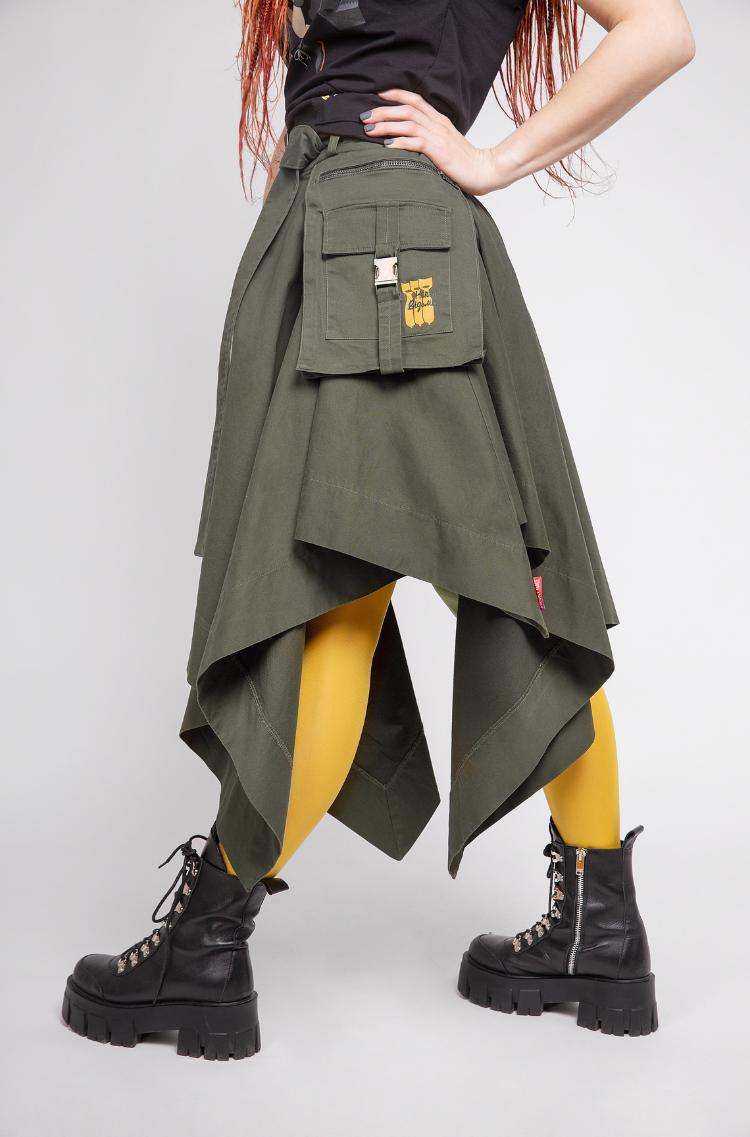 Women's Skirt Broom. Color khaki. .
