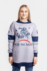Women's Sweatshirt Wjo Na Mars. Three-cord thread fabric: 77% cotton, 23% polyester.