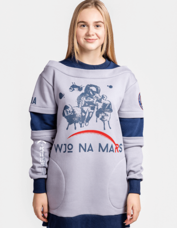 Women's Sweatshirt Wjo Na Mars. Color gray. Three-cord thread fabric: 77% cotton, 23% polyester.