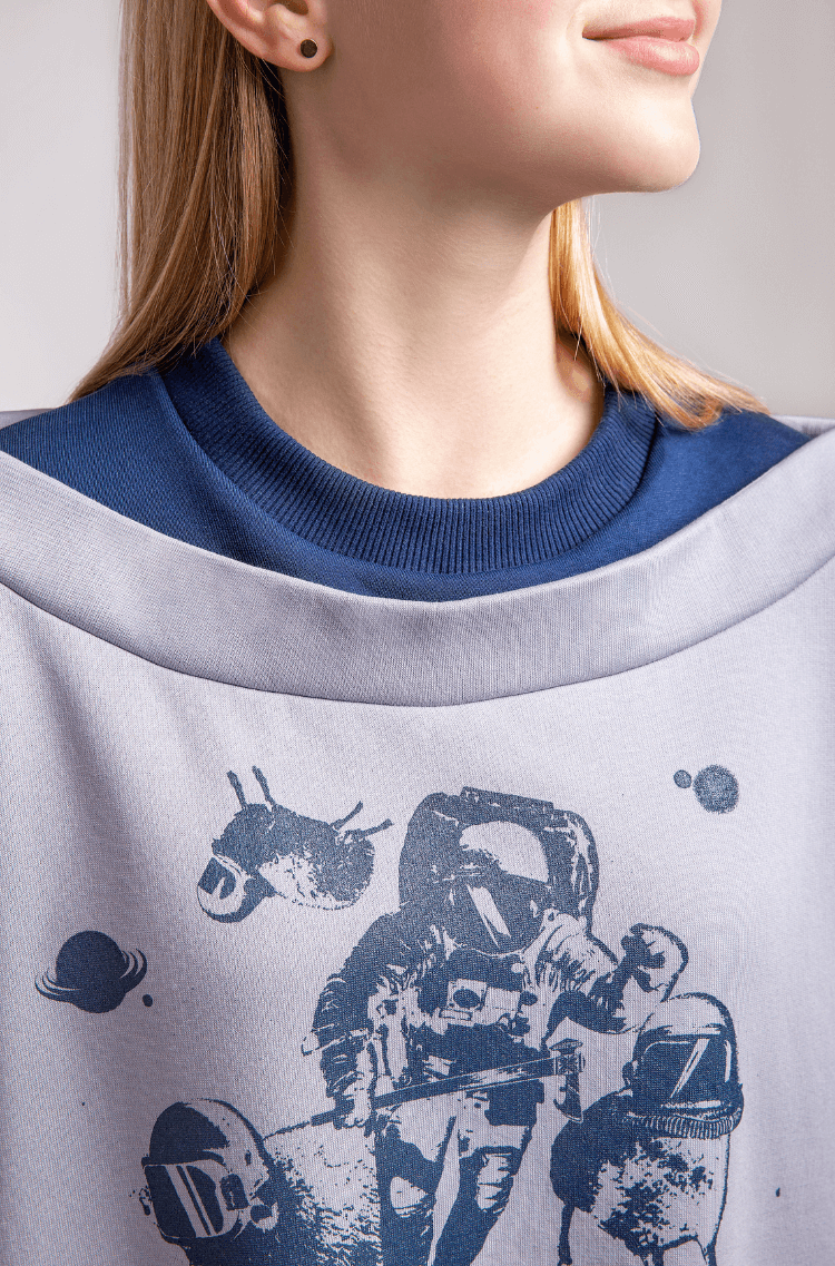 Women's Sweatshirt Wjo Na Mars. Color gray. 9.