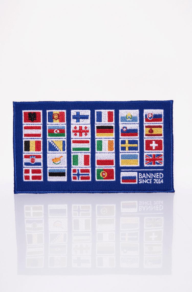 Stripe Avia Race. Color navy blue. Тут маємо прапори всіх країн, що брали участь у славетних Українських авіаперегонах.