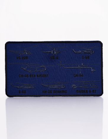 Stripe Sikorsky Helicopters. Color navy blue. We have chevrons with the unrivaled inventions by Ihor Sikorsky, one of the world's best aviators.