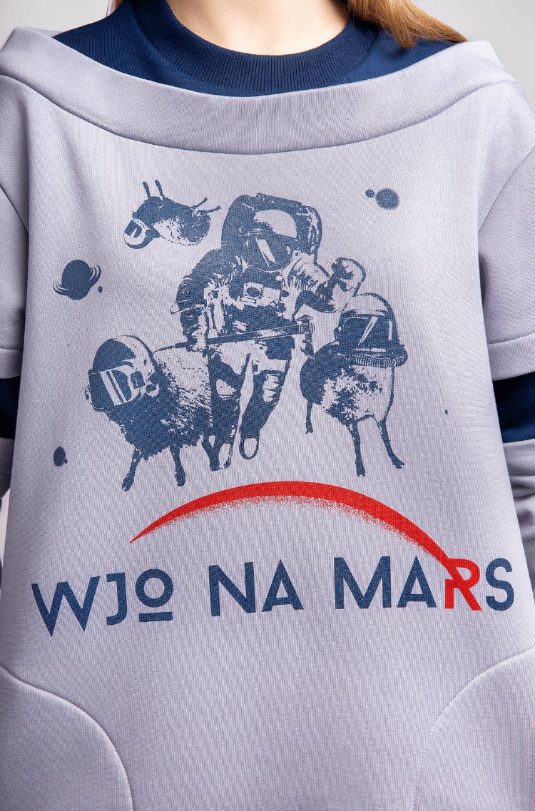 Жіночий Світшот Вйо На Марс. Колір сірий. 7.